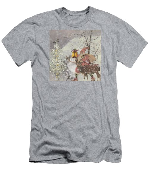 Ol' Saint Nick Men's T-Shirt (Slim Fit) by Diana Boyd