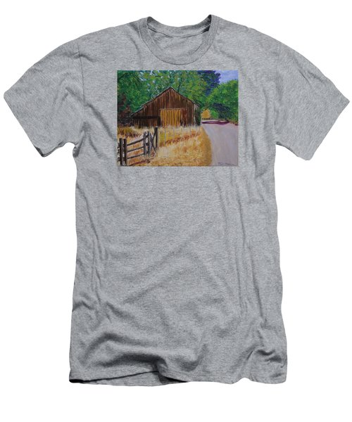 Old Barn Sonoma County Men's T-Shirt (Slim Fit) by Mike Caitham