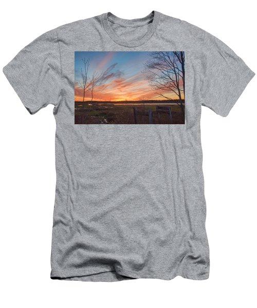 Old Bog Sunset Men's T-Shirt (Athletic Fit)