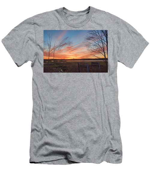 Old Bog Sunset Men's T-Shirt (Athletic Fit)