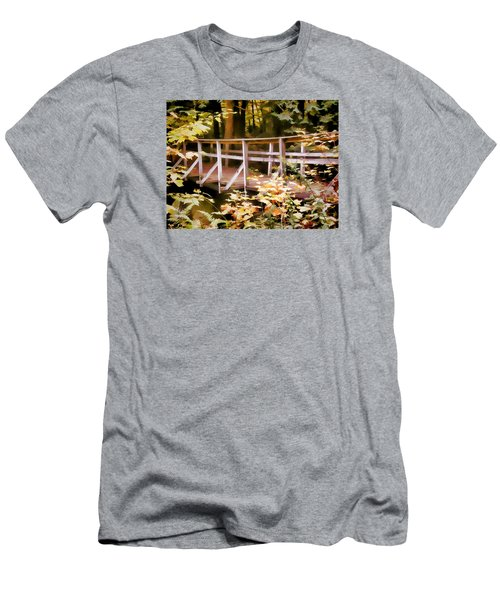 Old Bridge In The Woods In Color Men's T-Shirt (Athletic Fit)