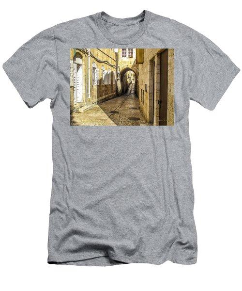 Shabbat Day Of Rest Jerusalem Israel Men's T-Shirt (Athletic Fit)