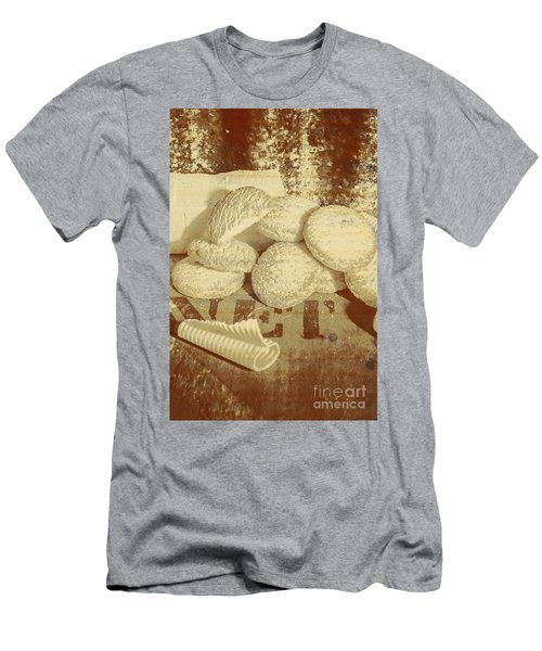 Old Cookie Tin Sign Art Men's T-Shirt (Athletic Fit)
