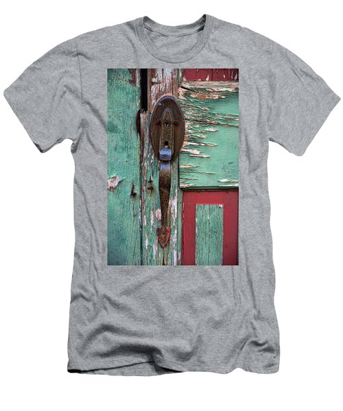 Men's T-Shirt (Slim Fit) featuring the photograph Old Door Knob 2 by Joanne Coyle