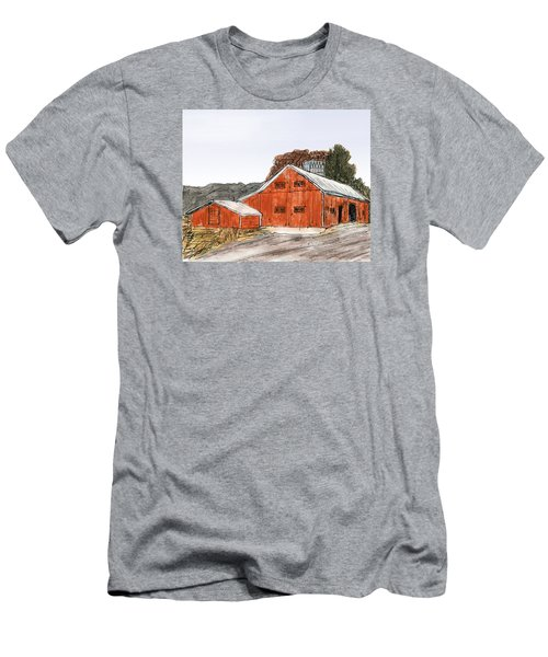 Old Farm In The Country Men's T-Shirt (Slim Fit) by R Kyllo