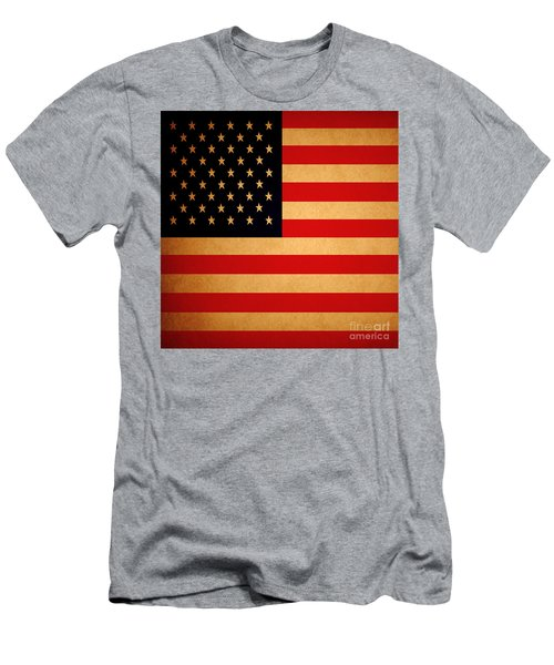 Old Glory . Square Men's T-Shirt (Athletic Fit)