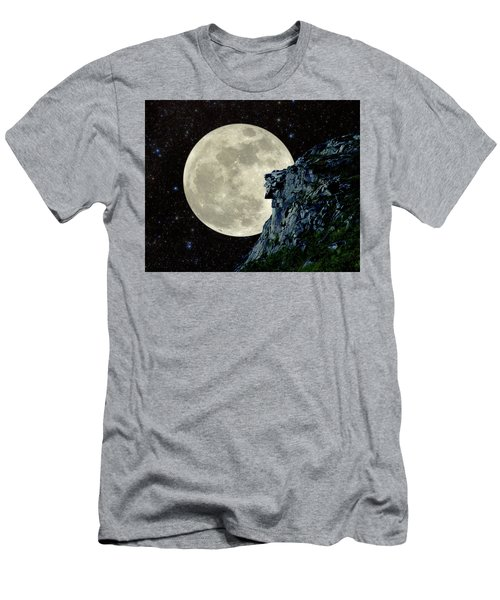 Men's T-Shirt (Slim Fit) featuring the photograph Old Man / Man In The Moon by Larry Landolfi