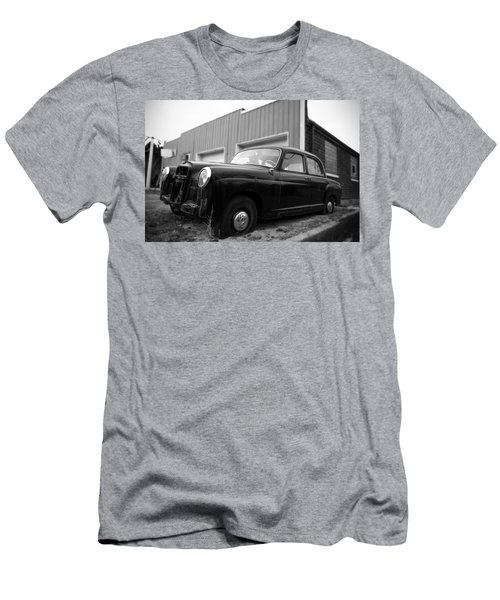 Old Mercedes Sitting At The Shop Men's T-Shirt (Slim Fit) by Janice Adomeit