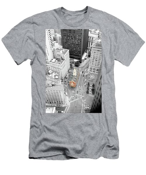Old State House Men's T-Shirt (Slim Fit) by Greg Fortier
