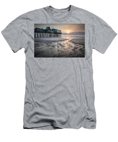 Old Orchard Beach Sea Smoke Sunrise Men's T-Shirt (Athletic Fit)