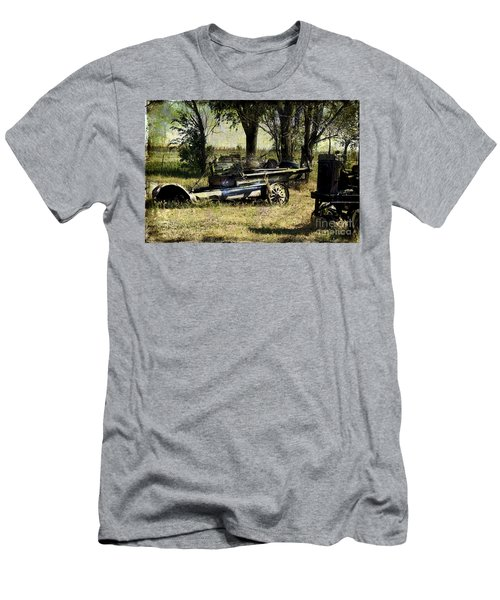Old Rail Men's T-Shirt (Slim Fit) by Deborah Nakano