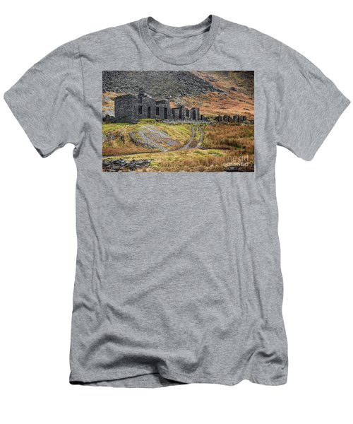 Men's T-Shirt (Slim Fit) featuring the photograph Old Ruin At Cwmorthin by Adrian Evans