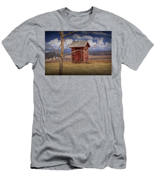 Old Rustic Wooden Outhouse In West Michigan Men's T-Shirt (Athletic Fit)