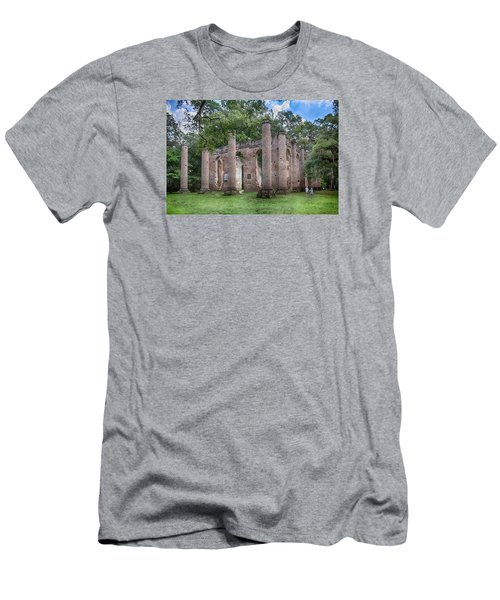 Men's T-Shirt (Slim Fit) featuring the photograph Old Sheldon Church by Patricia Schaefer