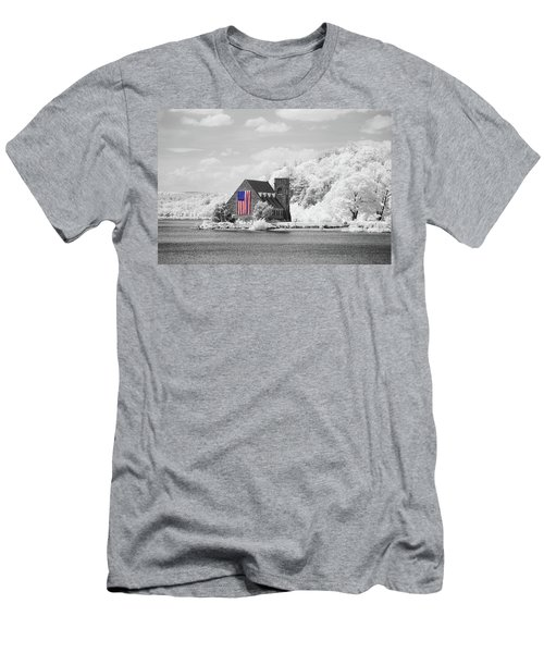 Men's T-Shirt (Athletic Fit) featuring the photograph Old Stone Church Halespectrum 1 by Brian Hale