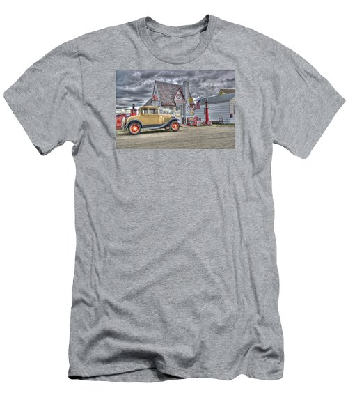 Old Time Gas Station Men's T-Shirt (Slim Fit) by Shelly Gunderson
