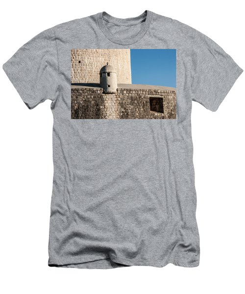 Men's T-Shirt (Slim Fit) featuring the photograph Old Town Dubrovnik by Silvia Bruno