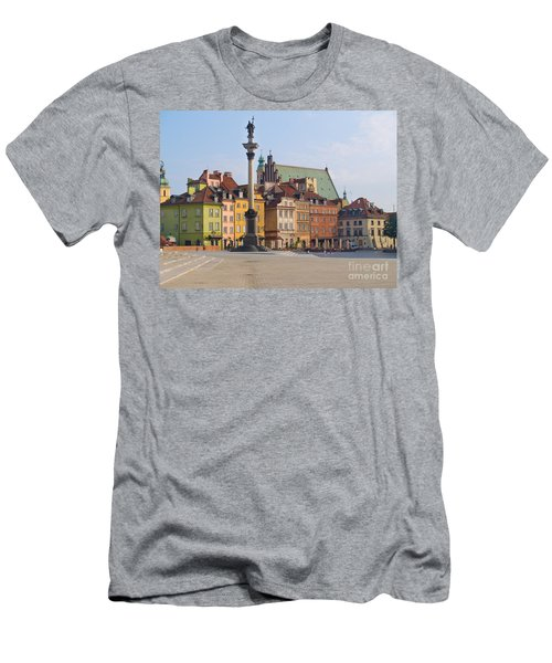Old Town Square Zamkowy Plac In Warsaw Men's T-Shirt (Athletic Fit)