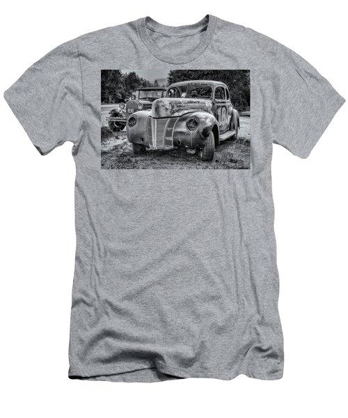Old Warrior - 1940 Ford Race Car Men's T-Shirt (Slim Fit) by Ken Morris