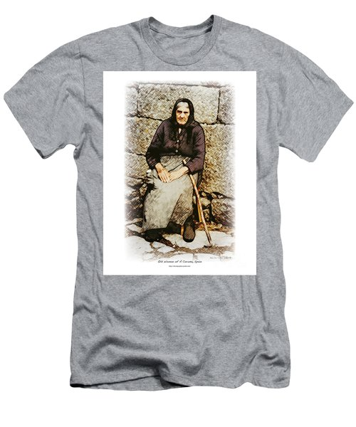 Old Woman Of Spain Men's T-Shirt (Slim Fit) by Kenneth De Tore
