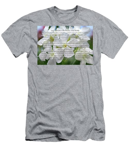Oleanders For Peace And Hope Men's T-Shirt (Athletic Fit)