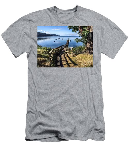 Men's T-Shirt (Slim Fit) featuring the photograph Olga Pier by William Wyckoff