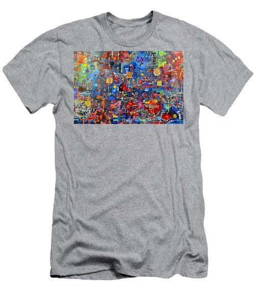 On A Chip Men's T-Shirt (Slim Fit) by Regina Valluzzi