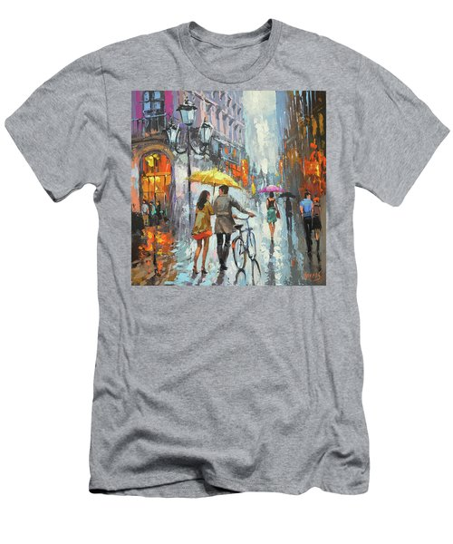 On A Cloudy Day  Men's T-Shirt (Athletic Fit)