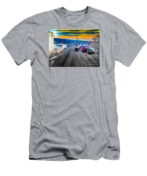 On A Suffern Railroad Track Men's T-Shirt (Athletic Fit)