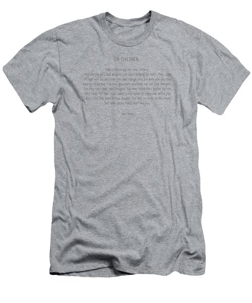 On Children By Kahlil Gibran Men's T-Shirt (Athletic Fit)