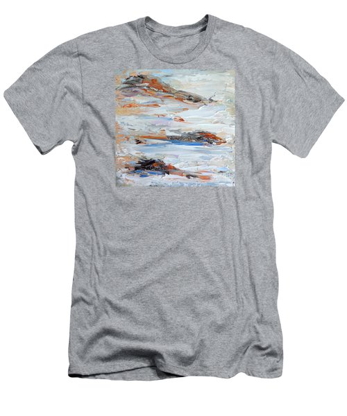 Men's T-Shirt (Slim Fit) featuring the painting On Da Rocks by Fred Wilson