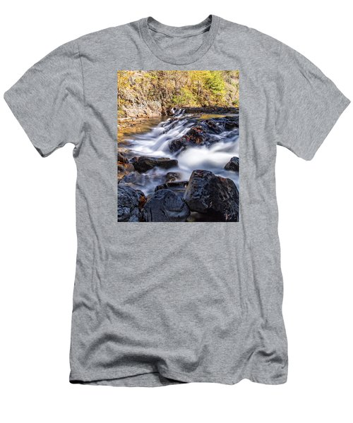Men's T-Shirt (Slim Fit) featuring the photograph On Jennings Creek by Alan Raasch