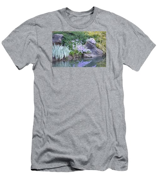 Men's T-Shirt (Slim Fit) featuring the photograph On The Banks Of The Pool by Linda Geiger