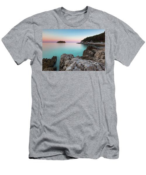 Men's T-Shirt (Athletic Fit) featuring the photograph On The Beach In Dawn by Davor Zerjav