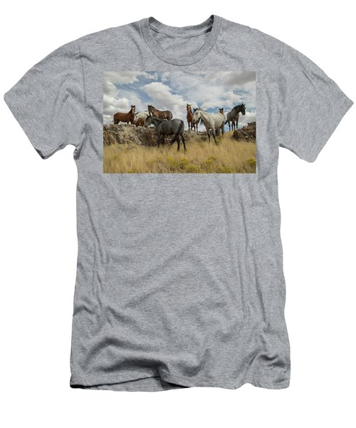 On The Mountain Top Men's T-Shirt (Athletic Fit)