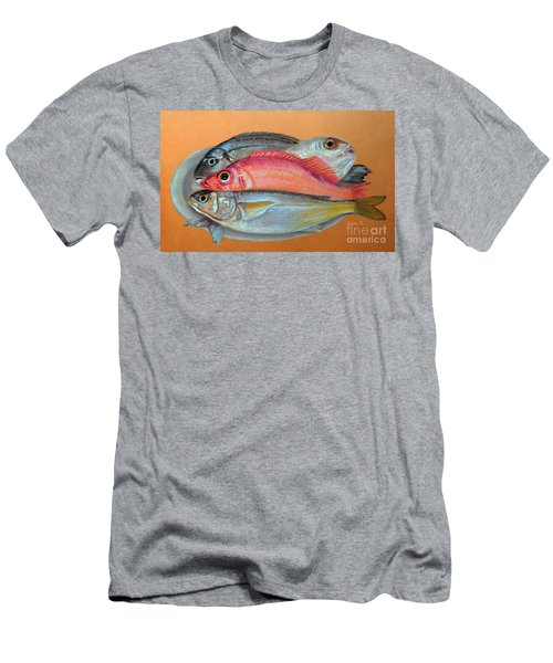 On The Platter Men's T-Shirt (Slim Fit) by Jasna Dragun