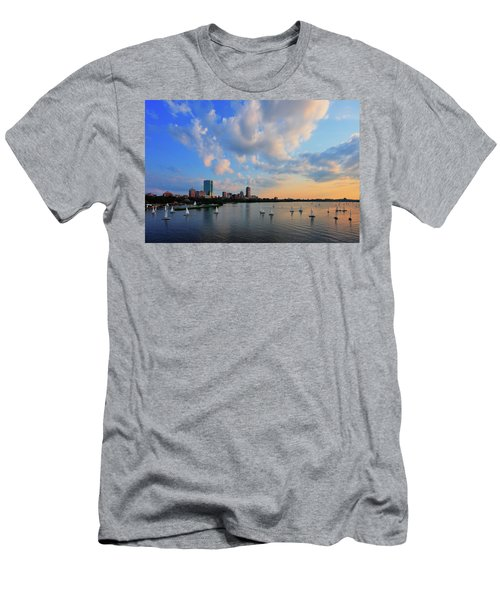On The River Men's T-Shirt (Slim Fit) by Rick Berk