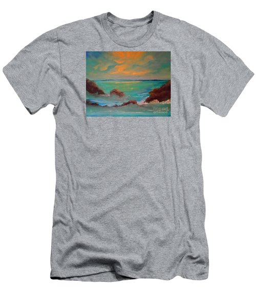 On The Rocks Men's T-Shirt (Slim Fit) by Holly Martinson