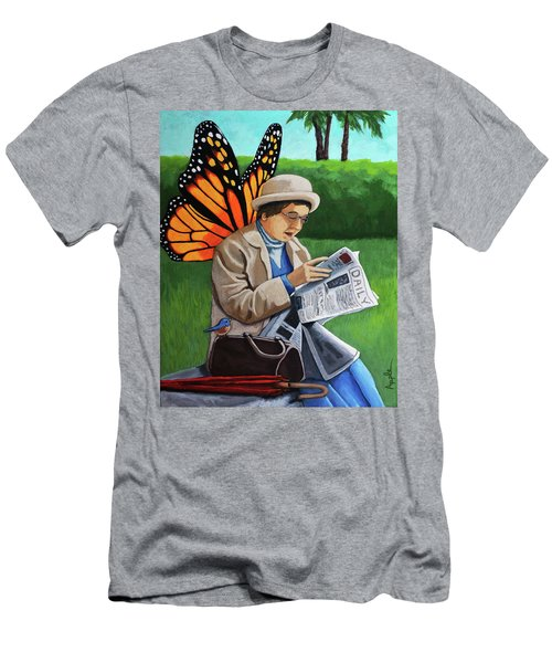 On Vacation -butterfly Angel Painting Men's T-Shirt (Slim Fit) by Linda Apple
