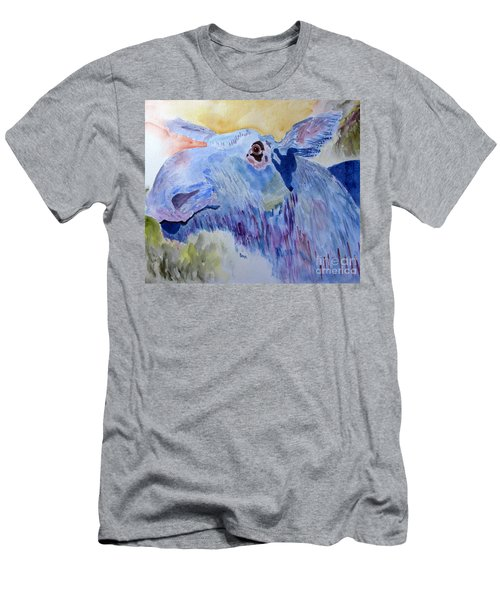 Once In A Blue Moose Men's T-Shirt (Slim Fit) by Sandy McIntire