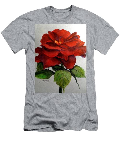 One Beautiful Rose Men's T-Shirt (Slim Fit) by Carol Grimes