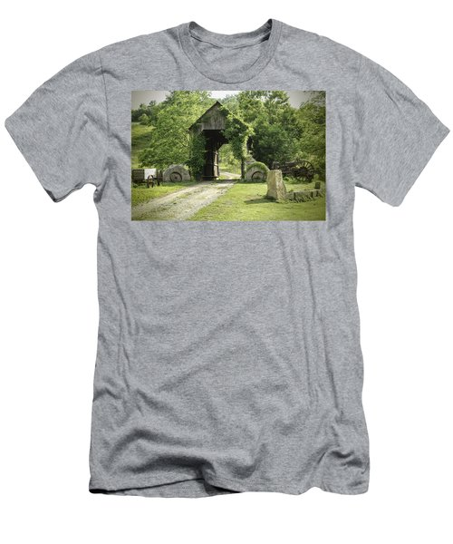 One Lane Covered Bridge Men's T-Shirt (Athletic Fit)