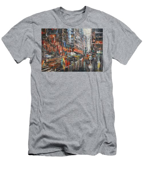 One Rainy Evening Men's T-Shirt (Athletic Fit)