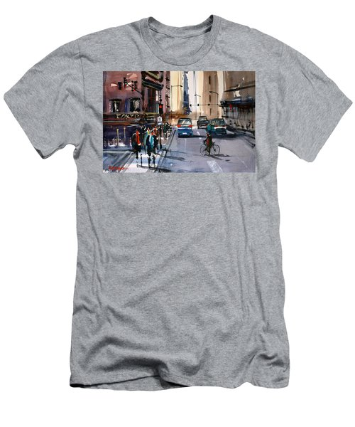 One Way Street - Chicago Men's T-Shirt (Slim Fit) by Ryan Radke