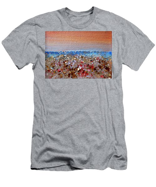 Opal Beach Men's T-Shirt (Slim Fit) by Regina Valluzzi