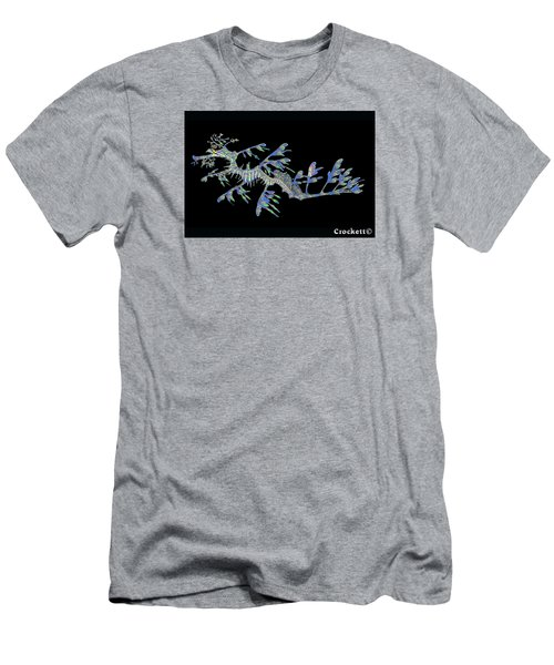 Men's T-Shirt (Slim Fit) featuring the photograph Opalised Sea Dragon by Gary Crockett