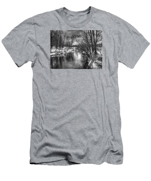 Men's T-Shirt (Slim Fit) featuring the photograph Open River by Betsy Zimmerli