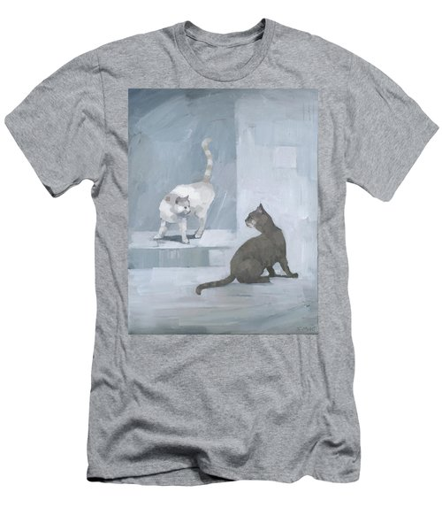 Men's T-Shirt (Athletic Fit) featuring the painting Opposites by Steve Mitchell