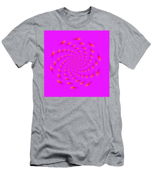 Optical Illusion Spinning Circle Men's T-Shirt (Athletic Fit)
