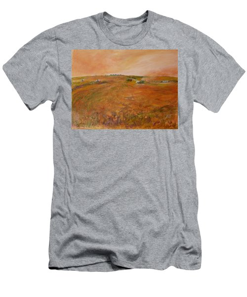 Orange Afternoon  Men's T-Shirt (Slim Fit) by Helen Campbell